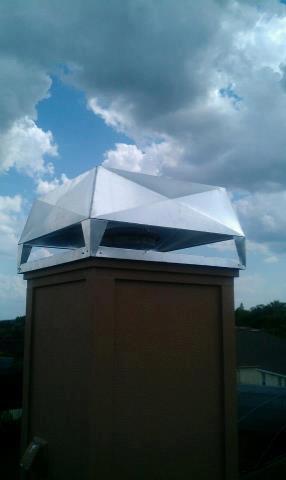 chimney cover - windskirt