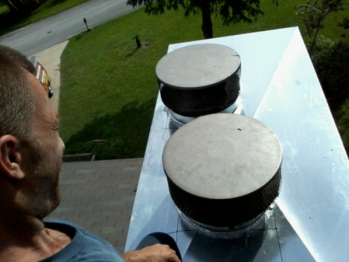 chimney cover install